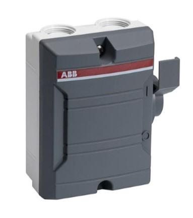 Foto ABB werkschakelaar 4P/25A/400V IP65, excl wartels M25